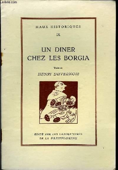 Maux Historiques N°IX : Un dîner chez les Borgia