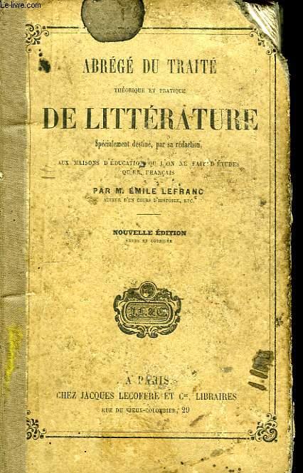 Abrégé du Traité Théorique et Pratique, de Littérature.