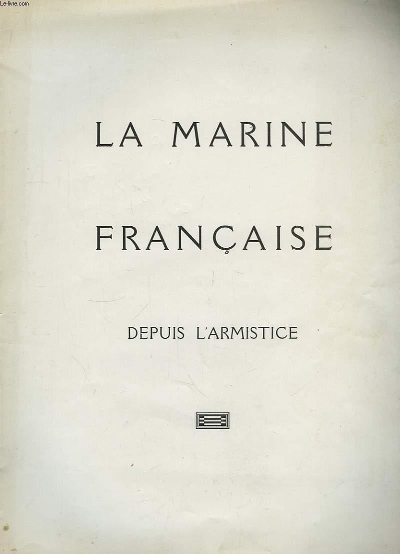 La Marine Francaise depuis l'Armistice