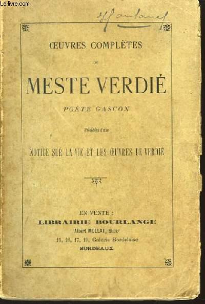 Oeuvres Complètes de Meste Verdié.