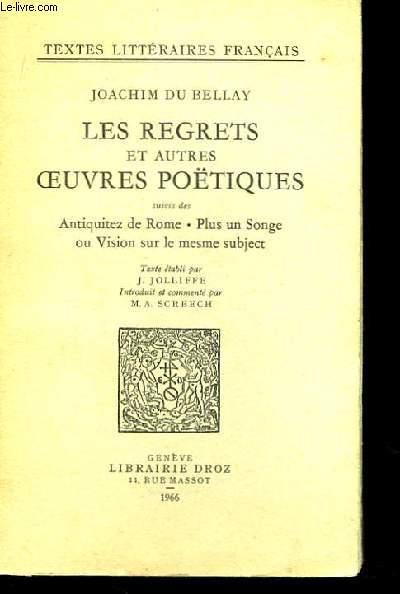 Les Regrets et autres Oeuvres Poétiques.