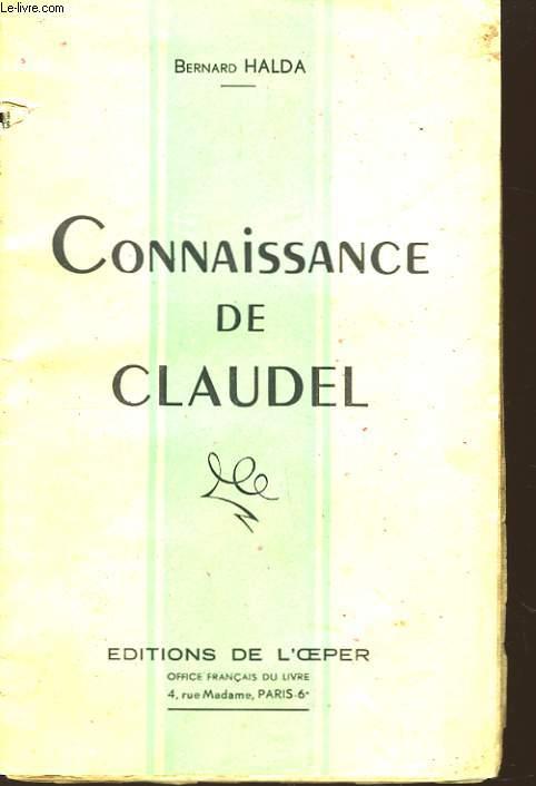 Connaissance de Claudel.