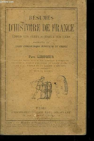 Résumés d'Histoire de France
