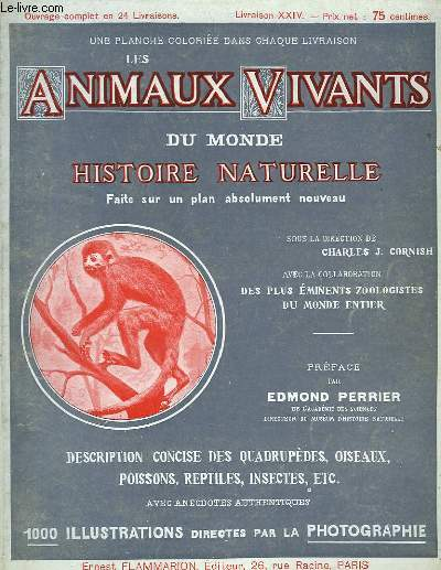 Les Animaux Vivants du Monde. Livraison XXIX