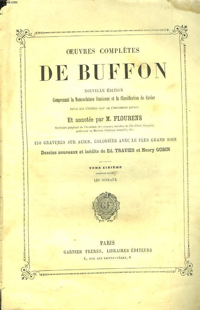 Oeuvres Complètes de Buffon. TOME VI, 1ère partie : Les Oiseaux.