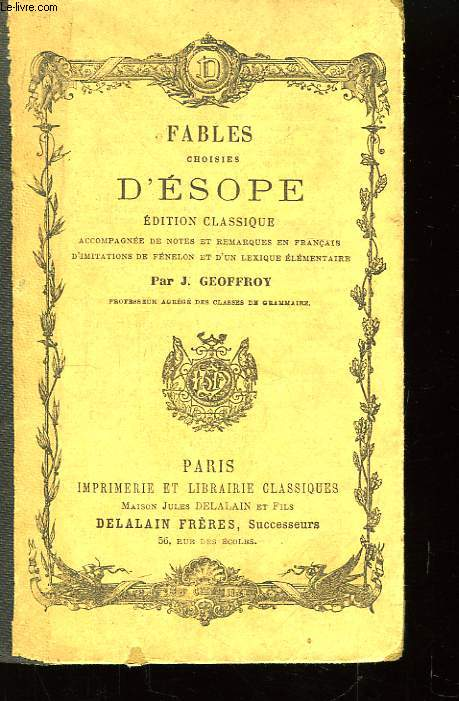 Fables choisies d'Esope.