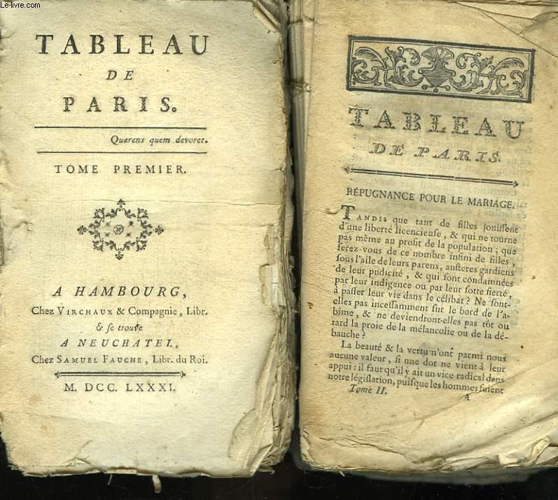 Tableau de Paris. TOMES I et 2