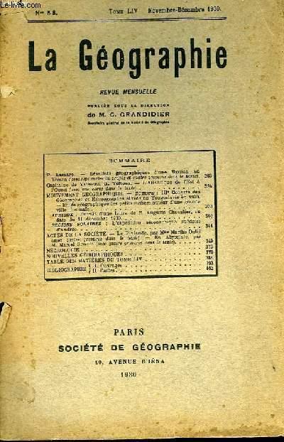La Géographie n°5 - 6, TOME LIV