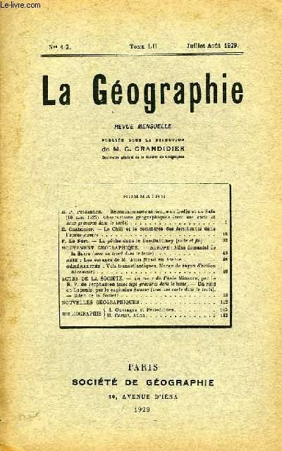 La Géographie n°1-2, TOME LII