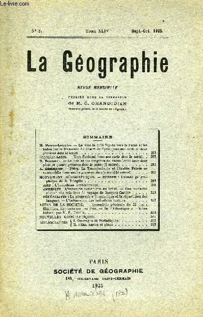 La Géographie N°3, TOME XLIV