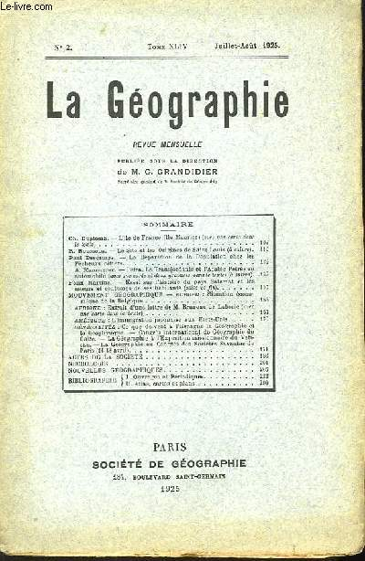 La Géographie n°2, TOME XLIV.