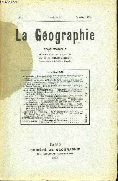 La Géographie n°1,  TOME XLIII.