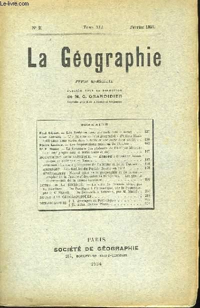 La Géographie n°2, TOME XLI