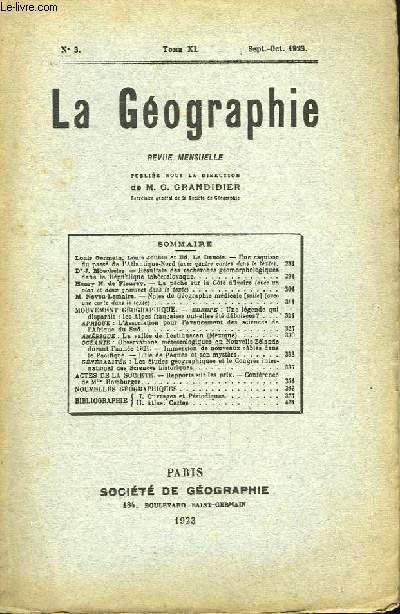 La Géographie n°3, TOME XL