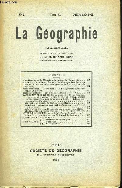 La Géographie n°2, TOME XL.