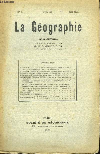 La Géographie n°1, TOME XL.