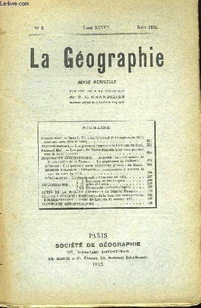 La Géographie n°3, TOME XXXVII
