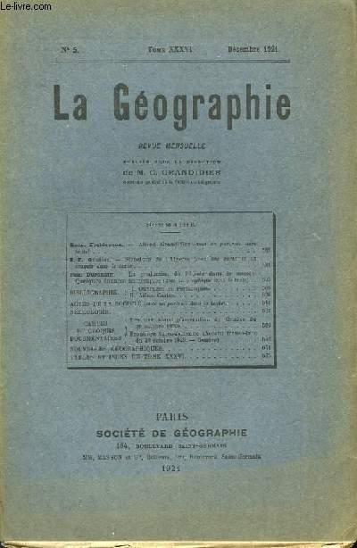 La Géographie N°5, TOME XXXVI