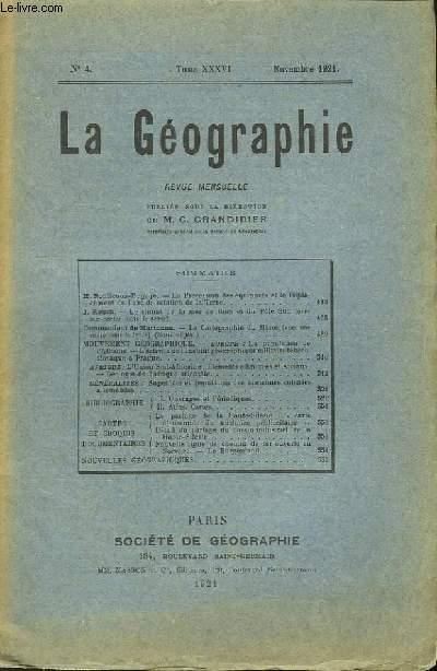 La Géographie n°4, TOME XXXVI