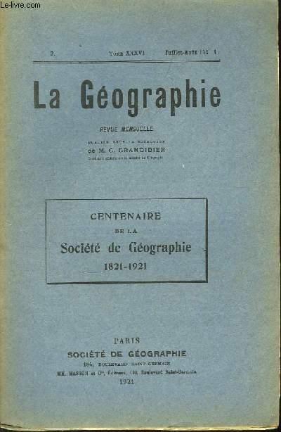 La Géographie n°2, TOME XXXVI