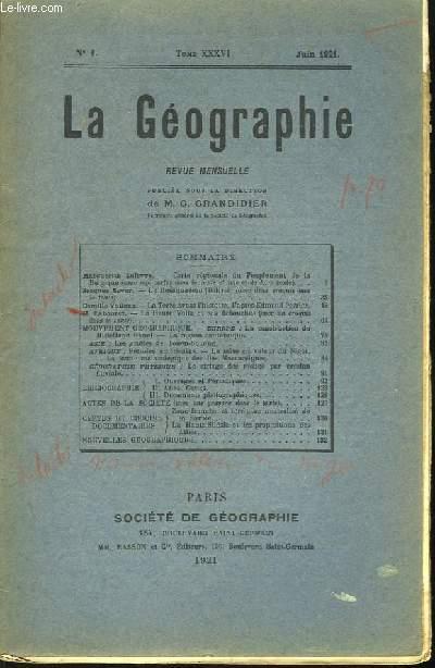 La Géographie n°1, TOME XXXVI