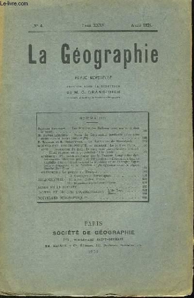 La Géographie n°4, TOME XXXV