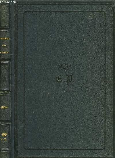 Le Moniteur des Demoiselles, ancien Journal des Jeunes Filles. Année 1852