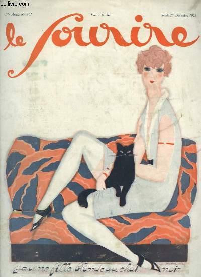 Le Sourire n°607, 31ème année : Jeune fille blonde au chat noir.