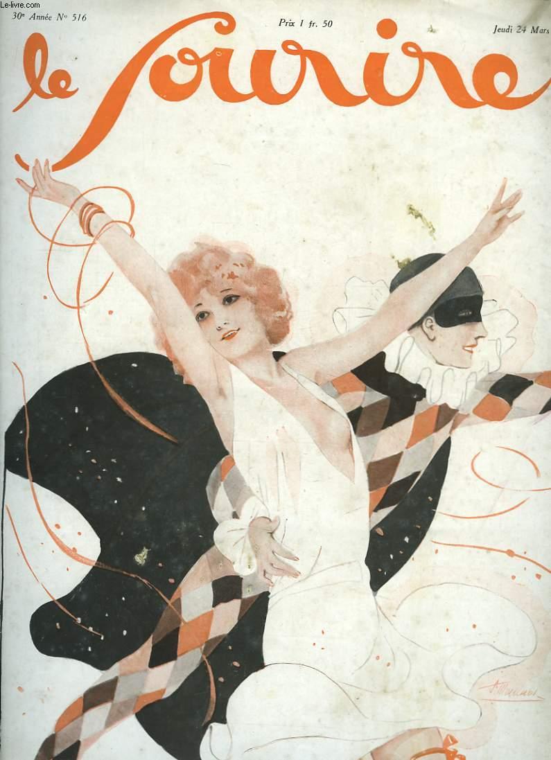 Le Sourire n°516, 30ème année : Le triomphe d'Arlequin.