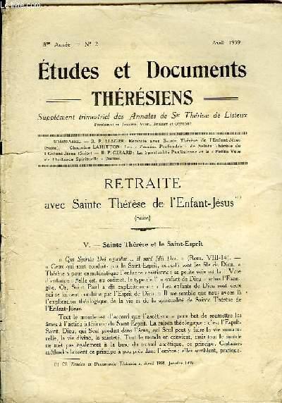 Etudes et Documents Thérésiens n°2, 8ème année.