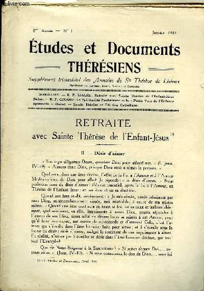 Etudes et Documents Thérésiens n°1, 8ème année.