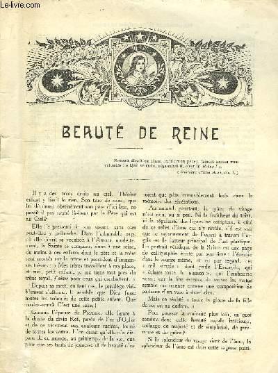 Les Annales de Sainte Thérèse de Lisieux n°?? : Beauté de Reine, de Paulot