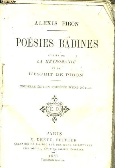 Poésies Badines.