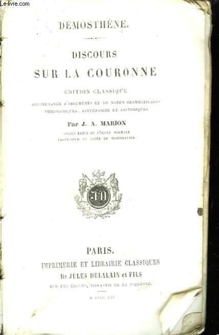 Discours sur la Couronne.