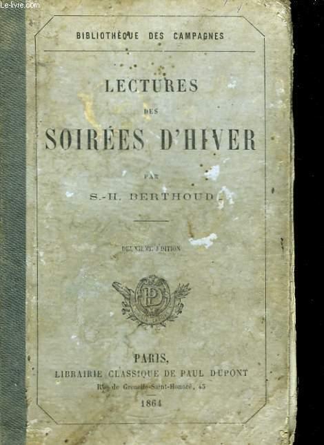 Lectures des Soirées d'Hiver.