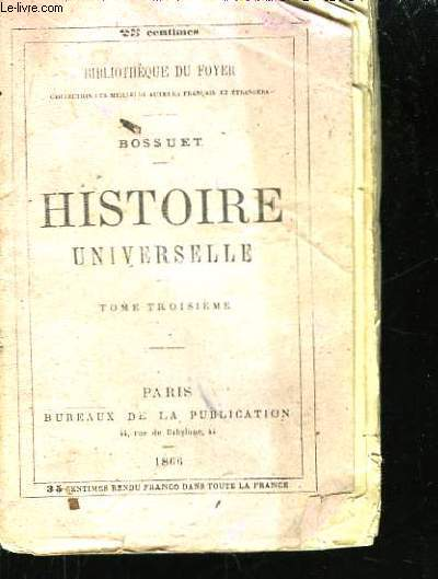 Histoire Universelle. TOME III