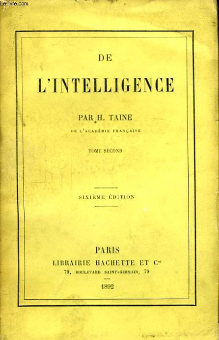 De l'Intelligence. TOME 2nd