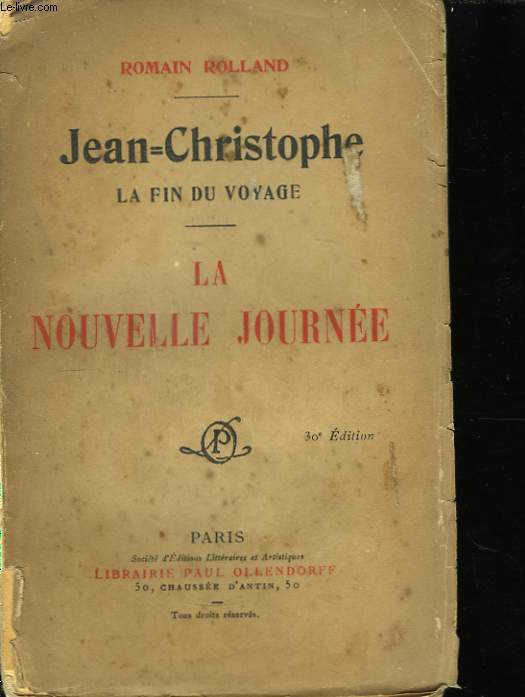 Jean-Christophe, la fin du voyage.