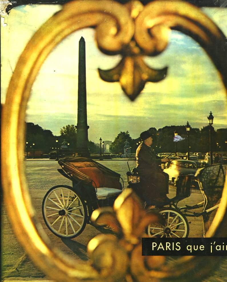 Paris que j'aime ...