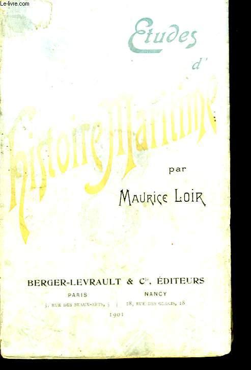 Etudes d'Histoire Maritime.