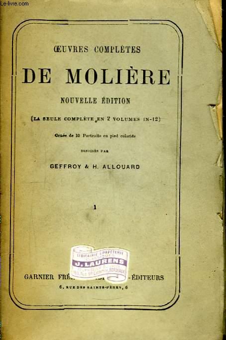 Oeuvres Complètes de Molière. TOME 1