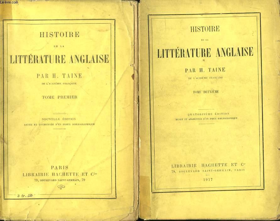 Histoire de la Littérature Anglaise. En 2 TOMES