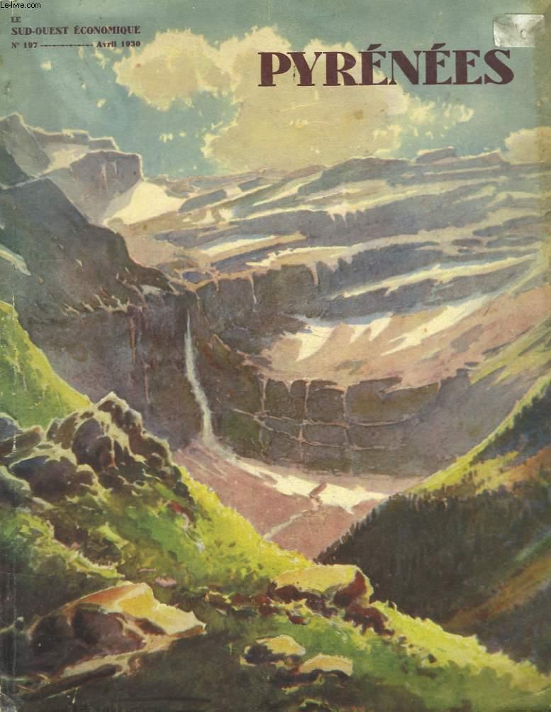 Le Sud-Ouest Economique. n°97, 11ème année : Pyrénées, De l'Atlantique à la Méditerranée.