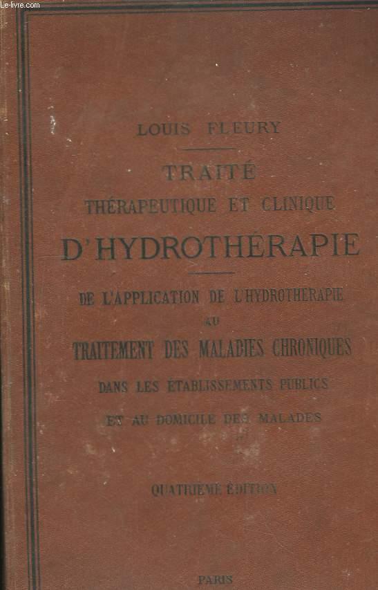 Traité thérapeutique et clinique d'Hydrothérapie.