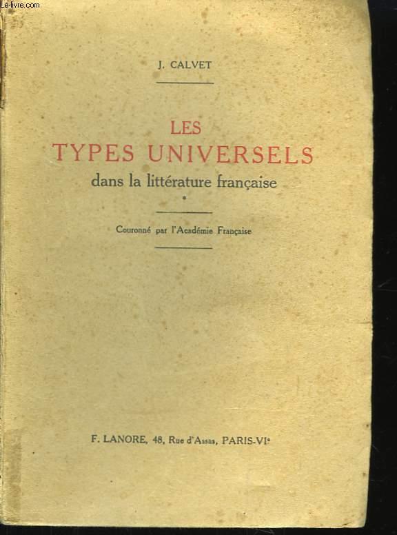 Les types universels dans la littérature française.