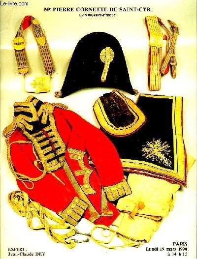 Catalogue de Vente aux Enchères Publiques d'Armes Anciennes et Souvenirs Historiques. Collection de Monsieur R.G.