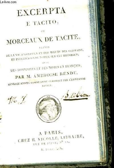 Excerpta e Tacito ou Morceaux de Tacite