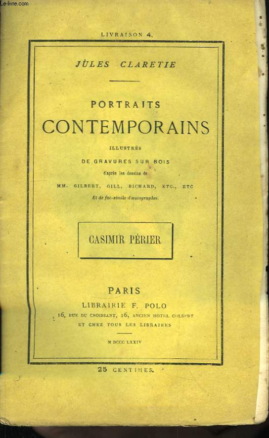 Portraits Contemporains. Casimir Périer.