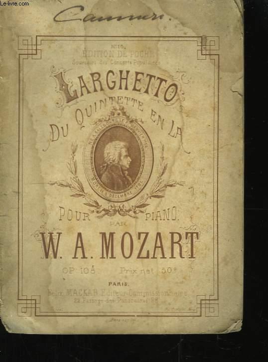 Larghetto, du Quintette en La