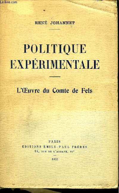 Politique Expérimentale.